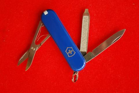 синий швейцарский нож