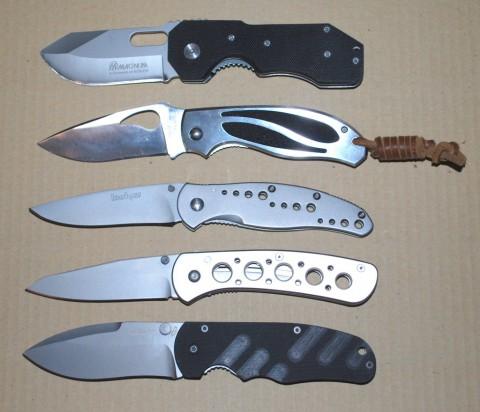 пять складных ножей