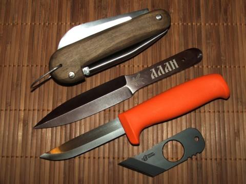 боцманский нож, металка от freeknife, оранжевый хулт и резак от ВН