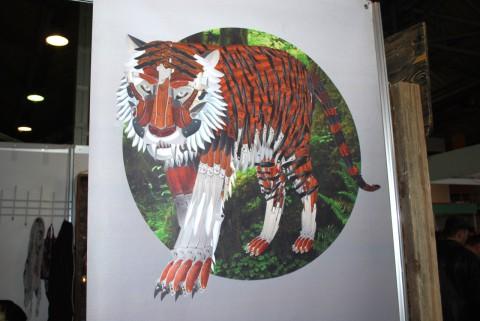 тигр из клинков
