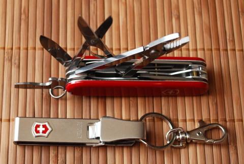 клипса и ножик от Викторинокс