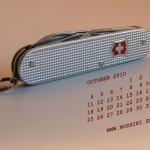 Фотообои на рабочий стол с календарем на октябрь 2010 от NOZHIKI.SU