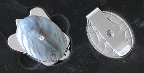 черепашка CRKT и металлическая накладка с клипсой