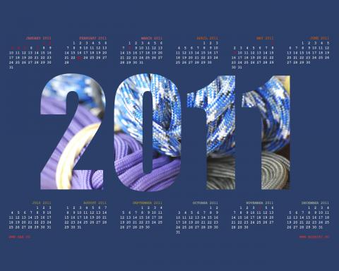 цветной паракорд в календаре рабочего стола на 2011