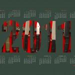 Календарь для рабочего стола на весь 2011 год