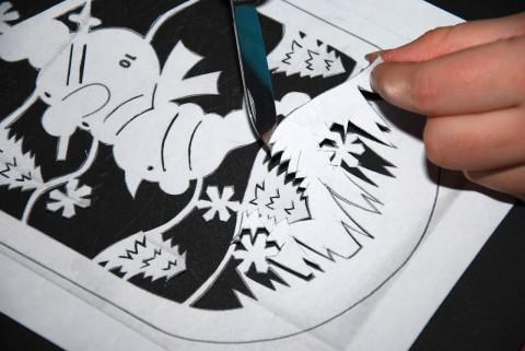 рисунок снеговика