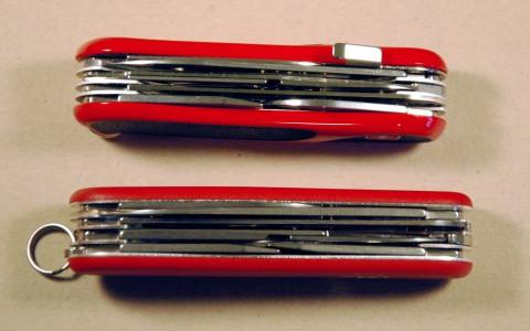 швейцарский нож с фиксатором и без
