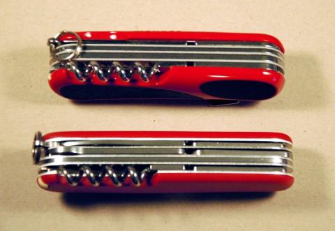 вид на ножи со спинки