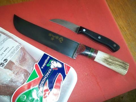 пчак и овощной вогнутый нож