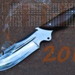 фото ножа с календарем-2013