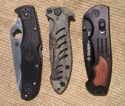 габариты сложенных ножей