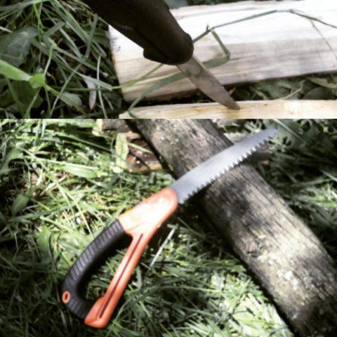 складная пила и пикниковый нож