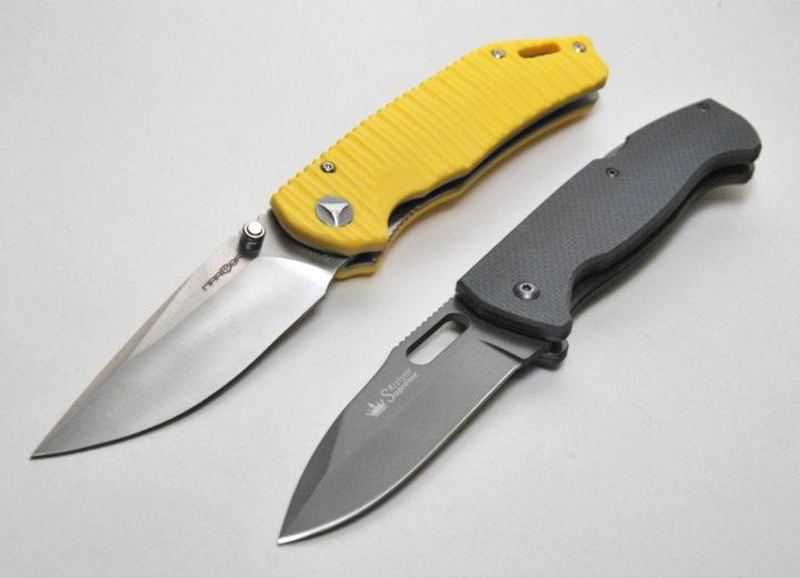 сравнение двух отличных складных ножей