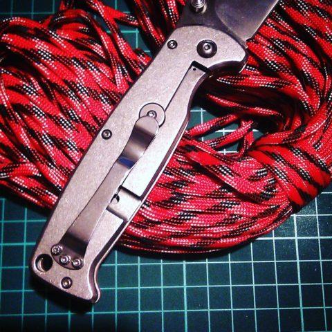 нож Ганзо и китайский паракорд