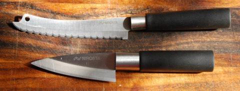 нож для рыбы и короткий петти