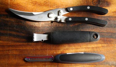 ножницы для птицы, нож для цедры, овощечистка